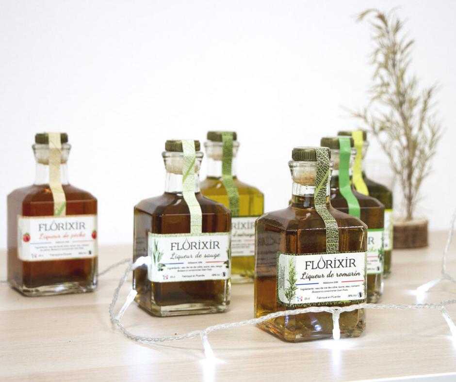 menu de fête : liqueurs de plantes bio florixir